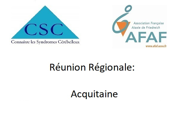 Réunions régionales Acquitaine