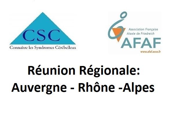 Réunions régionales Auvergne-Rhone-Alpes